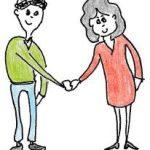Client et fournisseur scellant un deal